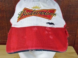 Authentic Budweiser Hat Custom Destroyed Hand Distressed Ripped Dyed Gru... - €15,76 EUR