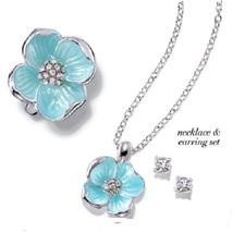 NIB AVON GARDEN BEAUTIES FLOWER NECKLACE & EARRINGS GIFT SET - $6.99