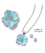 Garden beauties necklace set with ring thumbtall