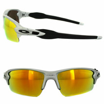 Oakley Sunglasses Flak 2.0 OO9295-02 Silver Fire Iridium - $98.99