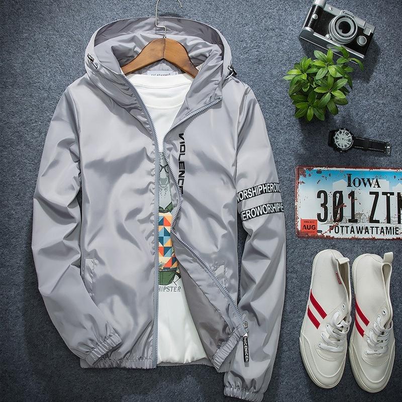 Large size Men 's Spring & Summer Coat Outdoor Sportswear Hooded Jacket Coat Jac