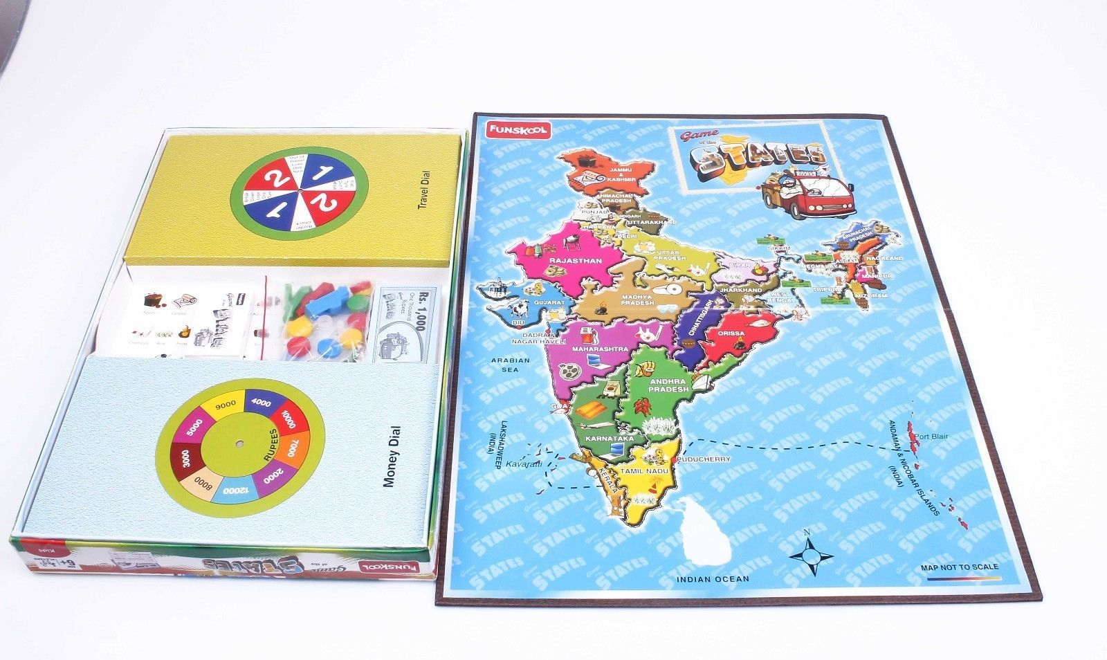 Funskool Game of The States Educational Games Players 2-4 Age 6+ image 3
