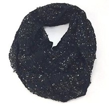 Cejon Women's Confetti Flag Yarn Infinity Scarf Black / Silver - $22.67