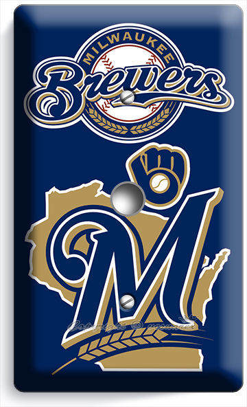 MILWAUKEE BREWERS BASEBALL TEAM LIGHT SWITCH OUTLET WALL PLATE COVER ROOM DECOR