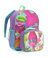 "DreamWorks Trolls 16"" inches Large Backpack with Insulated Lunch Tote Ba... - $26.99"