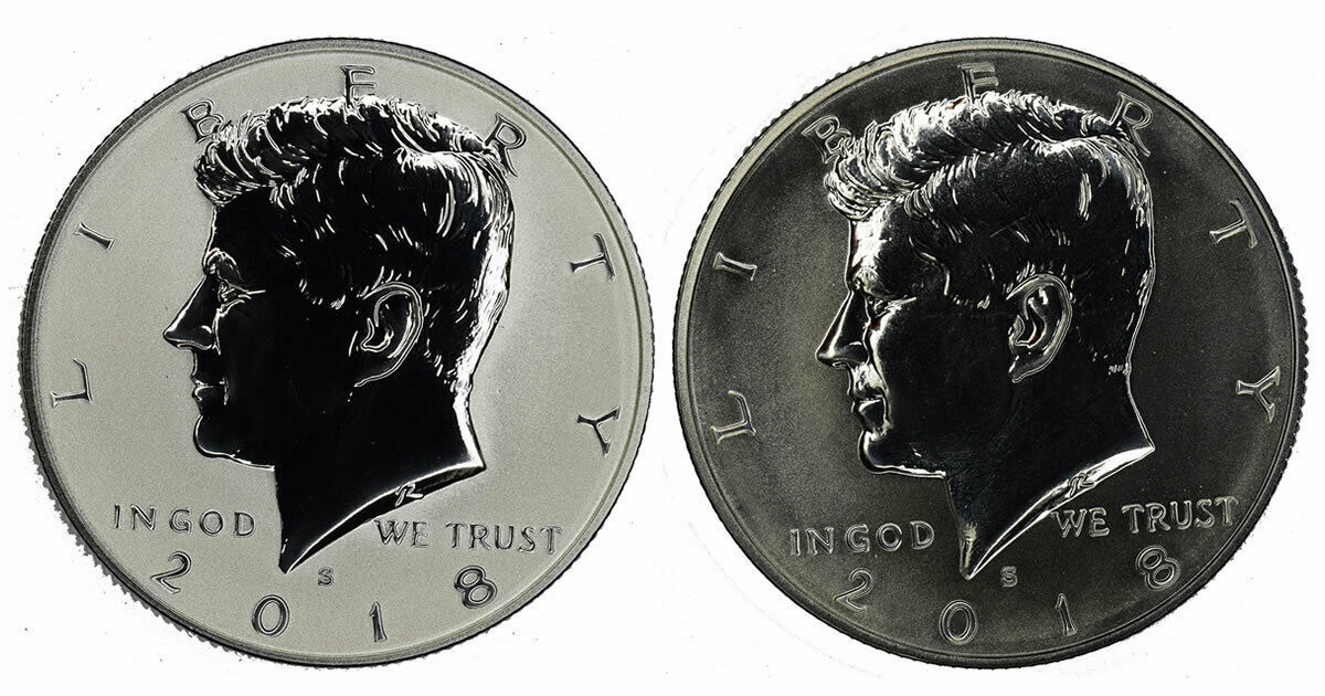 2018 Reverse Proof Kennedy Half Dollar CP2596