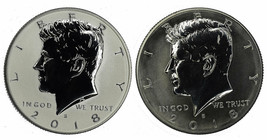2018 Reverse Proof Kennedy Half Dollar CP2596 - $42.90