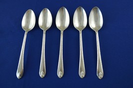 5 Wm Rogers & Son Exquisite 1940 Teaspoons - $9.90