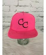 CC Neon Pink Trucker Hat Cap Mesh Snapback Vintage - $29.69