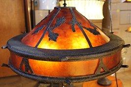 """Large Bronze Oakleaf Mica Floor Lamp 60""""H - $989.99"""