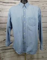 Daniel Hechter Blue Denim Casual Button Down Shirt Size: L