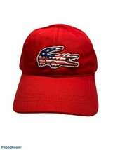 Lacoste Men's American Flag Croc Cap.Red.OS.NWT.MSRP$45.00 - $42.08