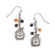 Avon Trick or Treat Pumpkin Earrings - $7.99