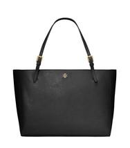 Tory Burch Womens Black Saffiano Leather Emerson York Tote Bag Purse 801... - $262.35