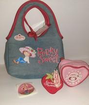 Strawberry Shortcake Child's Purse & Mini Coin Purse Denim BERRY CUTE - $14.85