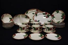30pc Set Franciscan APPLE: Cups/Saucers, Salad Plates, Fruit Bowls, Plat... - $159.99