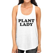 Plant Lady Womens White Racerback Sleeveless Shirt Simple Design - $14.99+