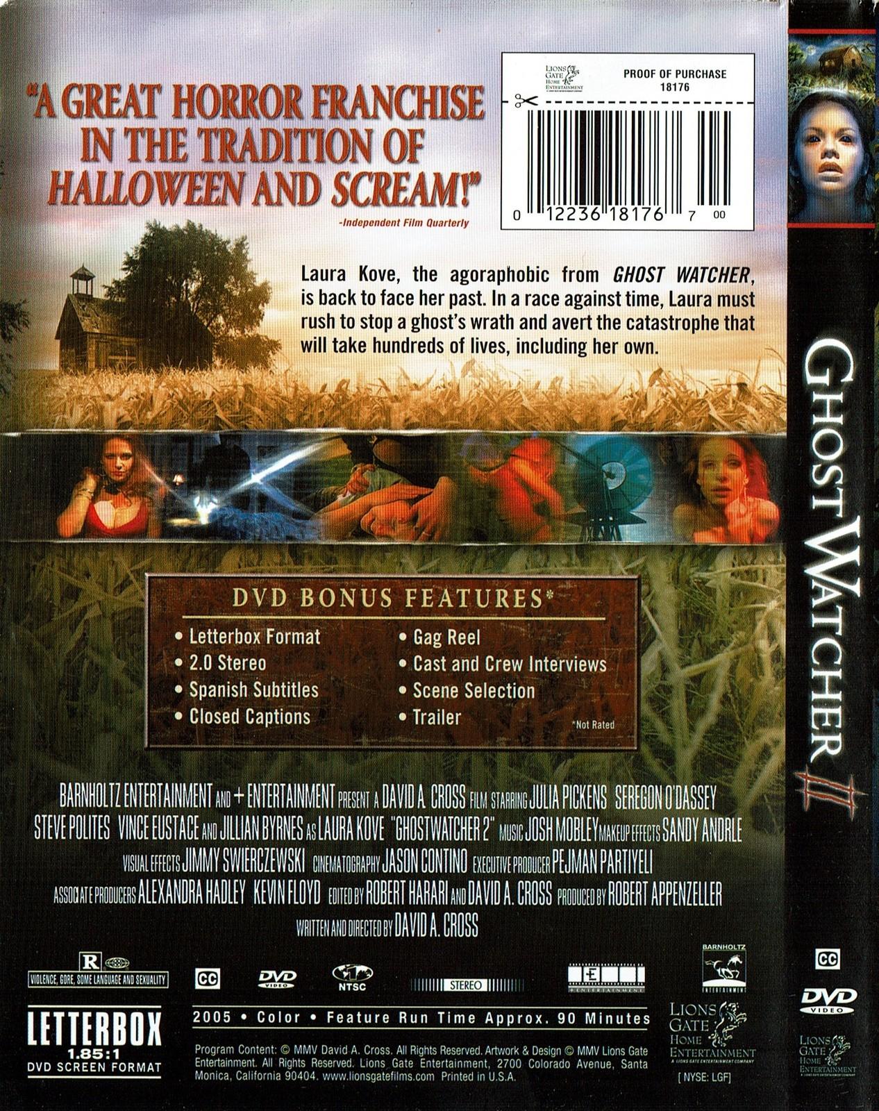 Ghost Watcher II (DVD, 2005) Steve Polites, Vince Eustace, Jillian Byrnes