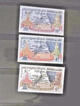 Laos Set of 3 Stamps MINT -canceled - MNH Free Shipping # 001824 - $1.68