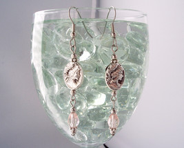 Victorian Inspired Cameo Drop Earrings Pink image 2