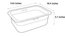 Incoc Stainless Steel Basin Bucket Dishpan Dish Washing Bowl Basket (Small) image 5