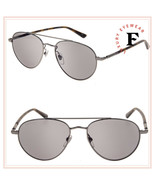 GUCCI WEB 0388 Ruthenium Aviator Metal Havana Grey Sunglasses GG0388S Unisex - $267.30