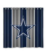 Dallas Cowboys 01 Shower Curtain Waterproof Polyester Fabric For Bathroom  - $33.30+