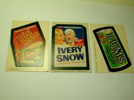 Wacky packages 3 cards c1974 dums ivery snow big muc VG - $27.00