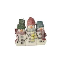 Christmas Holiday Snowman Puzzle Candles 3 Piece Set New Original Box 3338 - $12.99