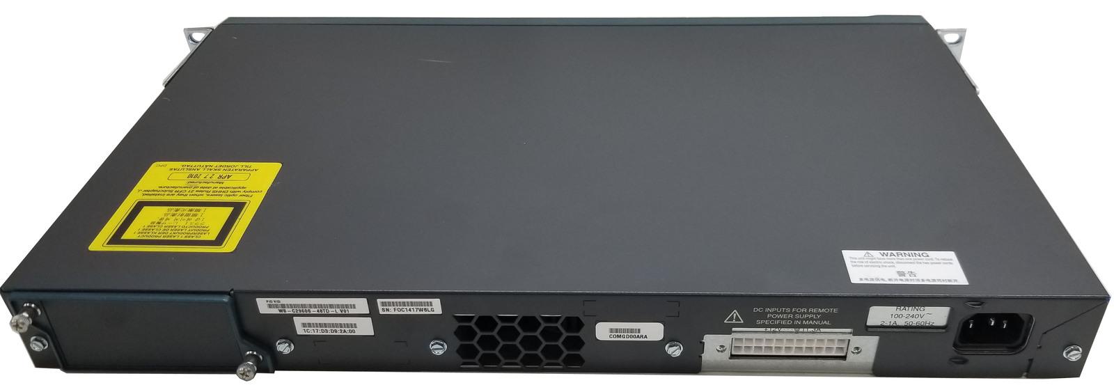 Cisco WS-C2960S-48TD-L V01 Catalyst 48 Port 2960-S GE Switch Bin:6