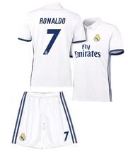 8ac087949fe Real Madrid Soccer White Home Jersey  amp  Shorts Uniform  7 Ronaldo Adult  Mens -