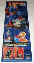 2004 Jim Lee Superman 34x11 inch DC Direct statue promo POSTER: Batman/C... - $29.69