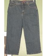 Gloria Vanderbilt Amanda Five Pocket Stretch Denim Capri Size 6 - $21.00
