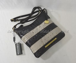 NWT Brahmin Jody Striped Cross-Body/Shoulder Bag in Angora Vineyard - $159.00
