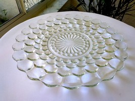 """Hocking Glass Bubble Pattern Dinner Plate 10"""" Wide - $7.92"""
