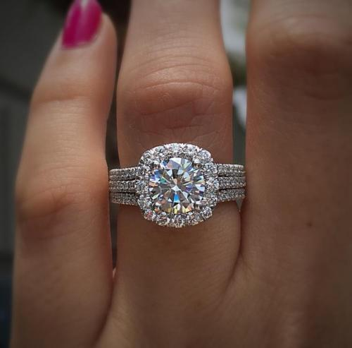 3 1/2CARAT HALO ROUND CUT DIAMOND BRIDAL ENGAGEMENT RING SOLID 10K WHITE GOLD FN, used for sale  USA