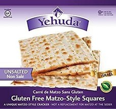 Yehuda Gluten-Free Unsalted Matzo Style Squares Kosher For Passover 10.45 oz. Pa - $44.49