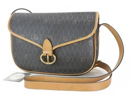 Auth CHRISTIAN DIOR Black Trotter Canvas and Leather Shoulder Bag Purse ... - $219.00
