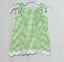 Mud Pie Baby Green Red Gingham Tunic Top Flare Pants 12 18 Months image 4