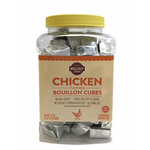 Primary image for Wellsley Farms Chicken Flavored Bullion Cubes, 75 ct. (pack of 2)