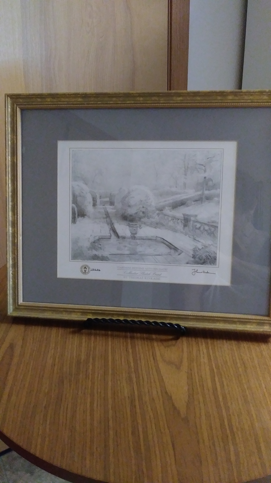 "Vintage Thomas  Kinkade  Collector  Sketch Print  #22626  ""Gardens Beyond Autumn"