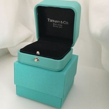 Tiffany & Co LARGE NEW Presentation Blue Leather Ring Box and Blue Box - $149.00