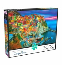2000 Piece Jigsaw Puzzle Buffalo Games 38 in x 26 in, Cinque Terre - NEW - $31.30
