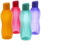 Tupperware Aquasafe FlipTop Water Bottle 1 Litre (Set of 4) Eco Sports B... - $567,31 MXN