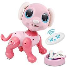 RACPNEL Remote Control Robot Dog Toy, RC Interactive Intelligent Walking Dancing