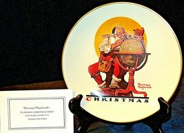 Planning Christmas by Norman Rockwell Plate with Box( Gorham ) AA20-CP2178 image 3