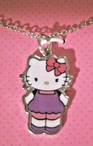 Hello Kitty Pendant Necklace with 16 in. Silvertone Chain + 2 in. Extension - $11.97