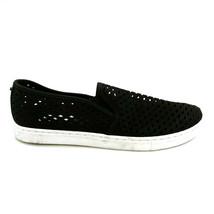 Steve Madden Womans Zeena Slip On Loafer Style Sneaker Black Perforated ... - $20.77