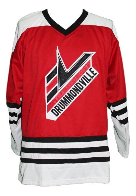 Custom drummondville voltigeurs retro hockey jersey red   1
