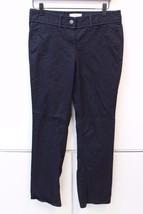 W12084 Womens ANN TAYLOR LOFT black cotton/spandex Marisa CASUAL PANTS, ... - $30.86